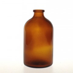 AMBER GLASS 100 ML ANTIBIOTIQUE BOTTLE T1