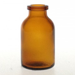 AMBER GLASS 20 ML ANTIBIOTIQUE BOTTLE T2