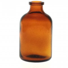 AMBER GLASS 50 ML ANTIBIOTIQUE BOTTLE T2
