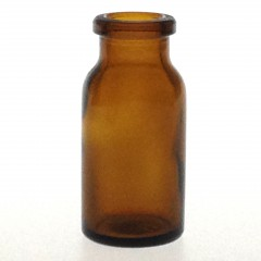 AMBER GLASS 10 ML ANTIBIOTIQUE BOTTLE T3
