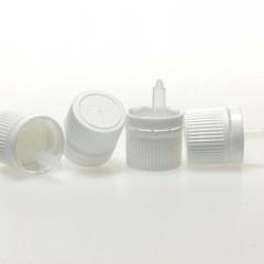 CAPSULE COMPTE GOUTTE INVIOLABLE PE BLANC DIN18 Insert 9142 - pour huile essentielle standard