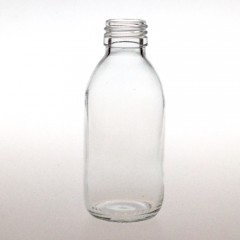 CLEAR GLASS 150 ML SYRUP BOTTLE PP 28
