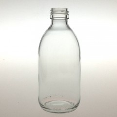 CLEAR GLASS 300 ML SYRUP BOTTLE PP 28