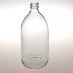CLEAR GLASS 1000 ML SYRUP BOTTLE PP 28