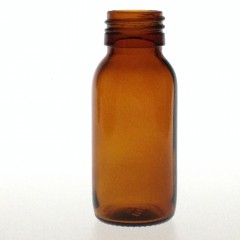 AMBER GLASS 60 ML SYRUP BOTTLE PP 28