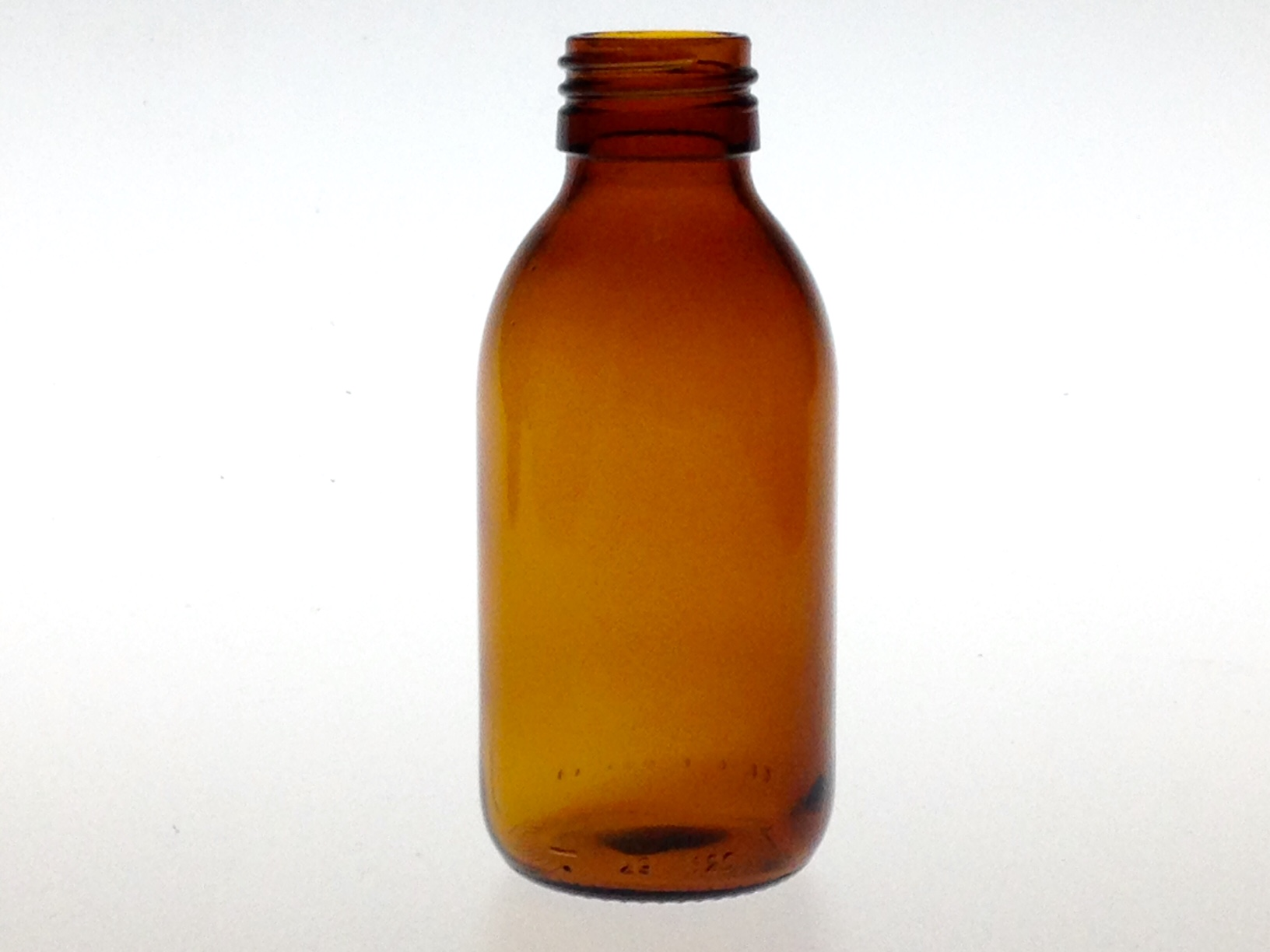 AMBER GLASS 125 ML SYRUP BOTTLE PP 28