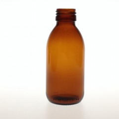 AMBER GLASS 150 ML BOTTLE  NECK PP 28