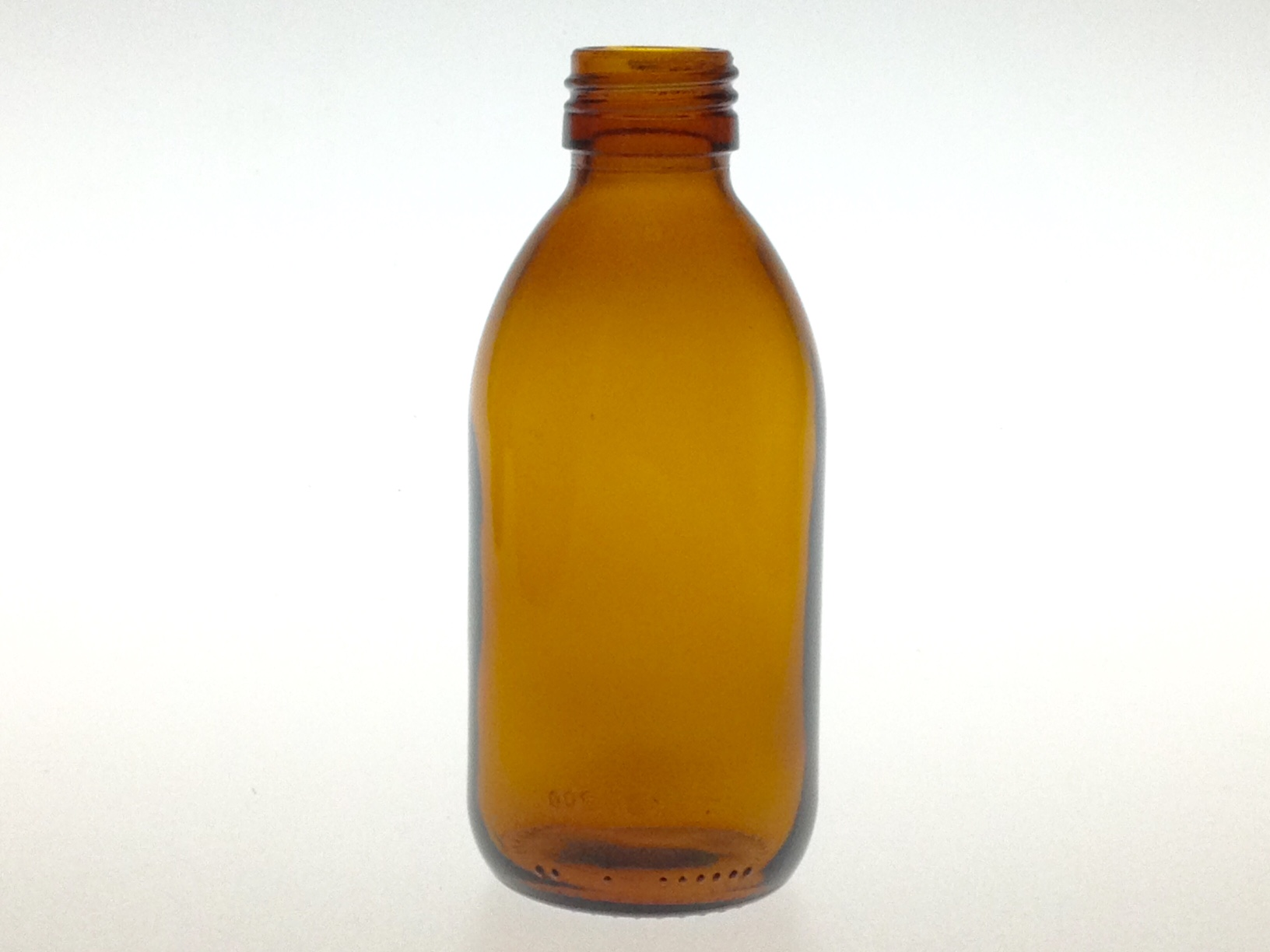 AMBER GLASS 200 ML SYRUP BOTTLE PP 28