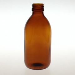 AMBER GLASS 250 ML SYRUP BOTTLE PP 28