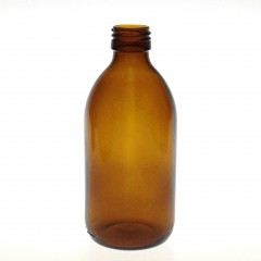 AMBER GLASS 300 ML SYRUP BOTTLE PP 28