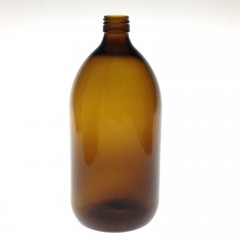 AMBER GLASS 500 ML BOTTLE  NECK PP 28