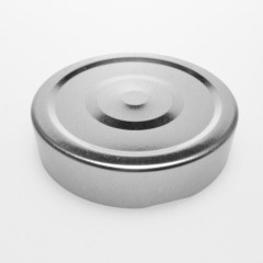 CAPSULE STERILISABLE TO 70  METAL ARGENT BRILLANT DEEP AVEC FLIP PANEL