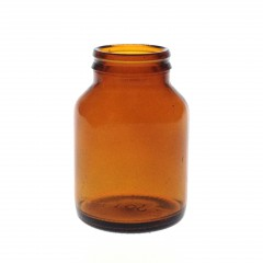 100 ML JAY-CAP AMBER GLASS TABLET JAR