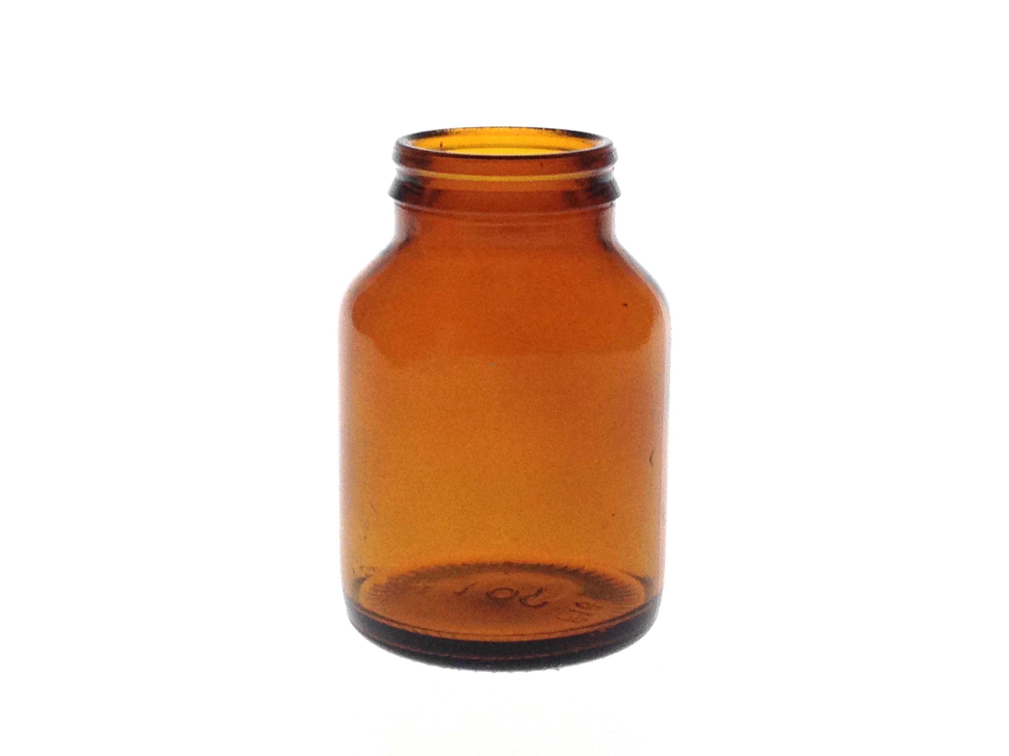 100 ML JAY-CAP AMBER GLASS TABLET JAR