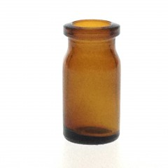 AMBER GLASS 7 ML ANTIBIOTIC BOTTLE T3