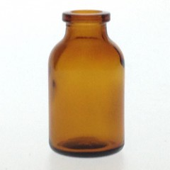 AMBER GLASS 24 ML ANTIBIOTIQUE BOTTLE T3