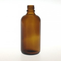 DROPPER BOTTLE AMBER GLASS 100 ML