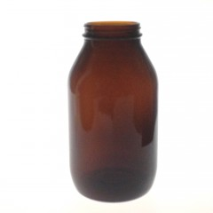 AMBER GLASS 1000 ML R3/63 POWDER