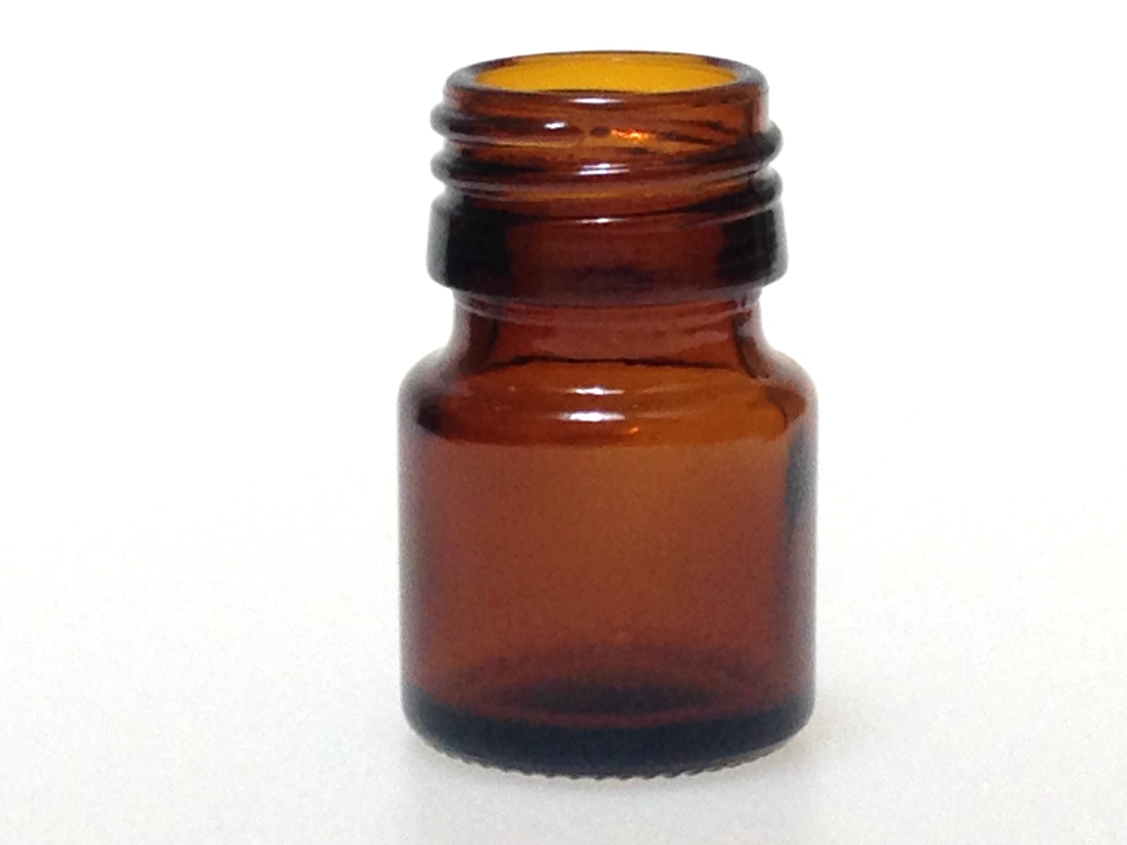 WIDE MOUTH AMBER GLASS 15 ML BOTTLE PP 28