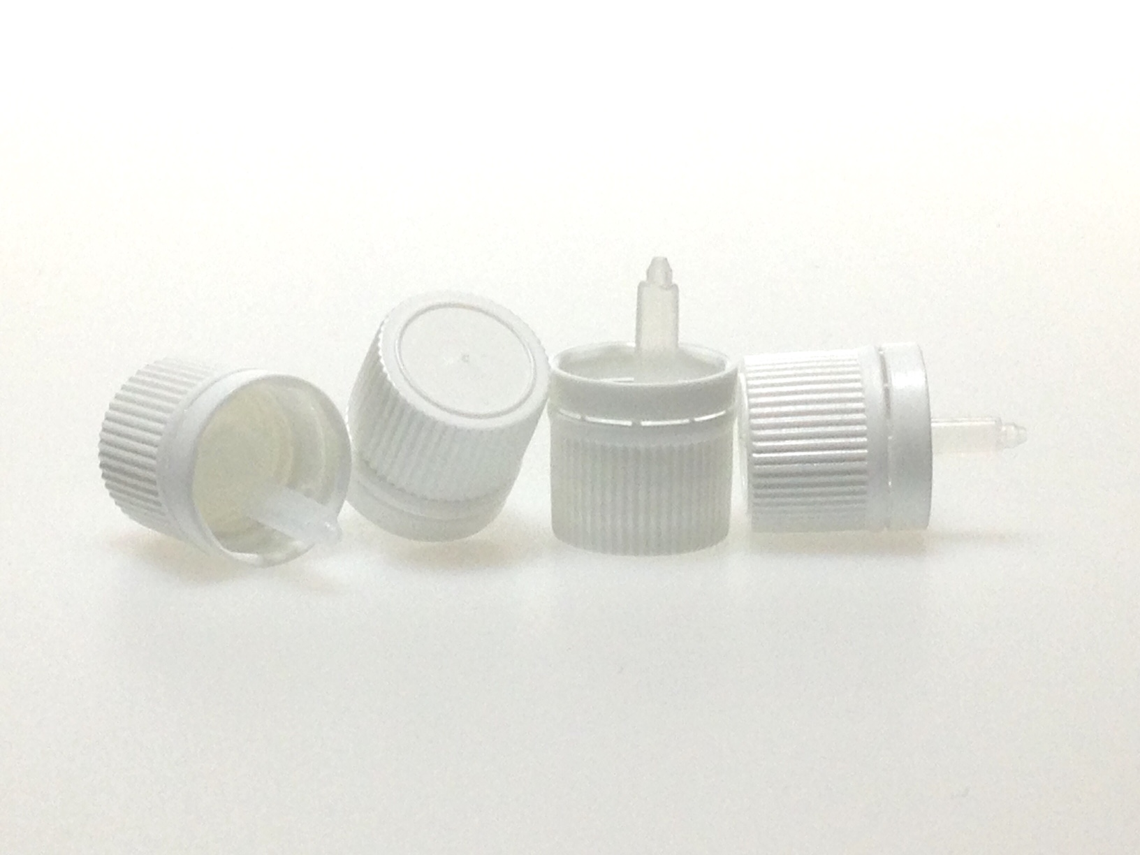 CAPSULE COMPTE GOUTTES INVIOLABLE PE BLANC DIN 18 Insert 22302 - Huile très visqueuse
