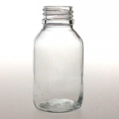 WIDE MOUTH CLEAR GLASS 125 ML BOTTLE PH 30
