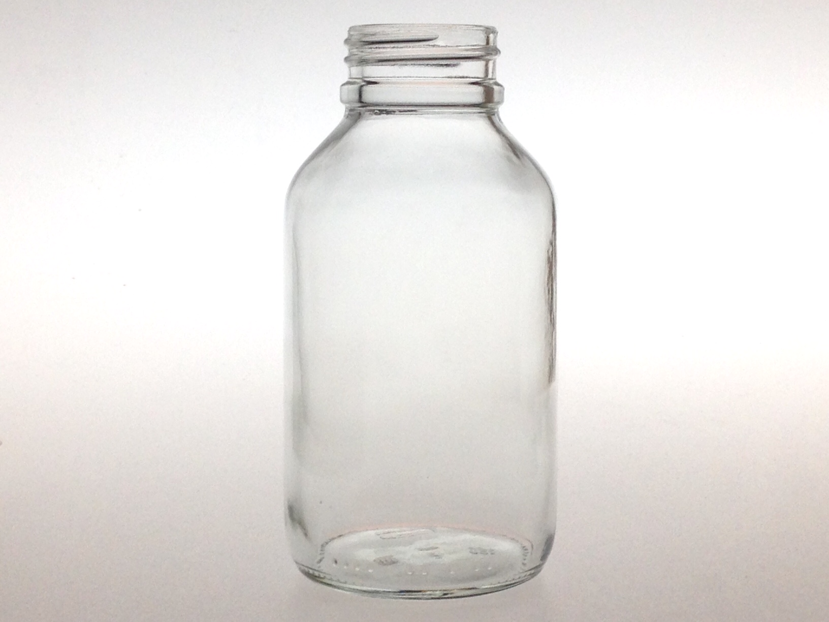 WIDE MOUTH CLEAR GLASS 250 ML BOTTLE PH 35