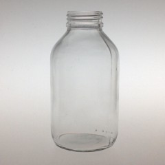 WIDE MOUTH CLEAR GLASS 500 ML BOTTLE PH 40
