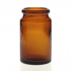25 ML AMBER GLASS TABLET JAR