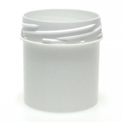 POT VISSANT INVIOLABLE 100 ML PP BLANC SCREWLOCK JAR 50*60
