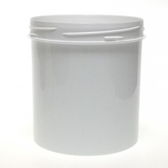 POT VISSANT INVIOLABLE 500 ML PP BLANC SCREWLOCK JAR 90*110