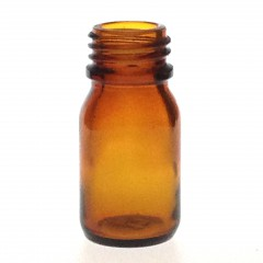 AMBER GLASS 10 ML BOTTLE  NECK PH 18
