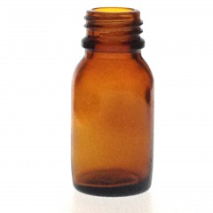 AMBER GLASS 15 ML BOTTLE NECK PH 18