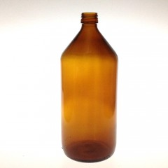 AMBER GLASS 1000 ML COMBI BOTTLE  NECK PP 28