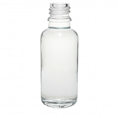 DROPPER BOTTLE 30 ML WHITE GLASS DIN 18
