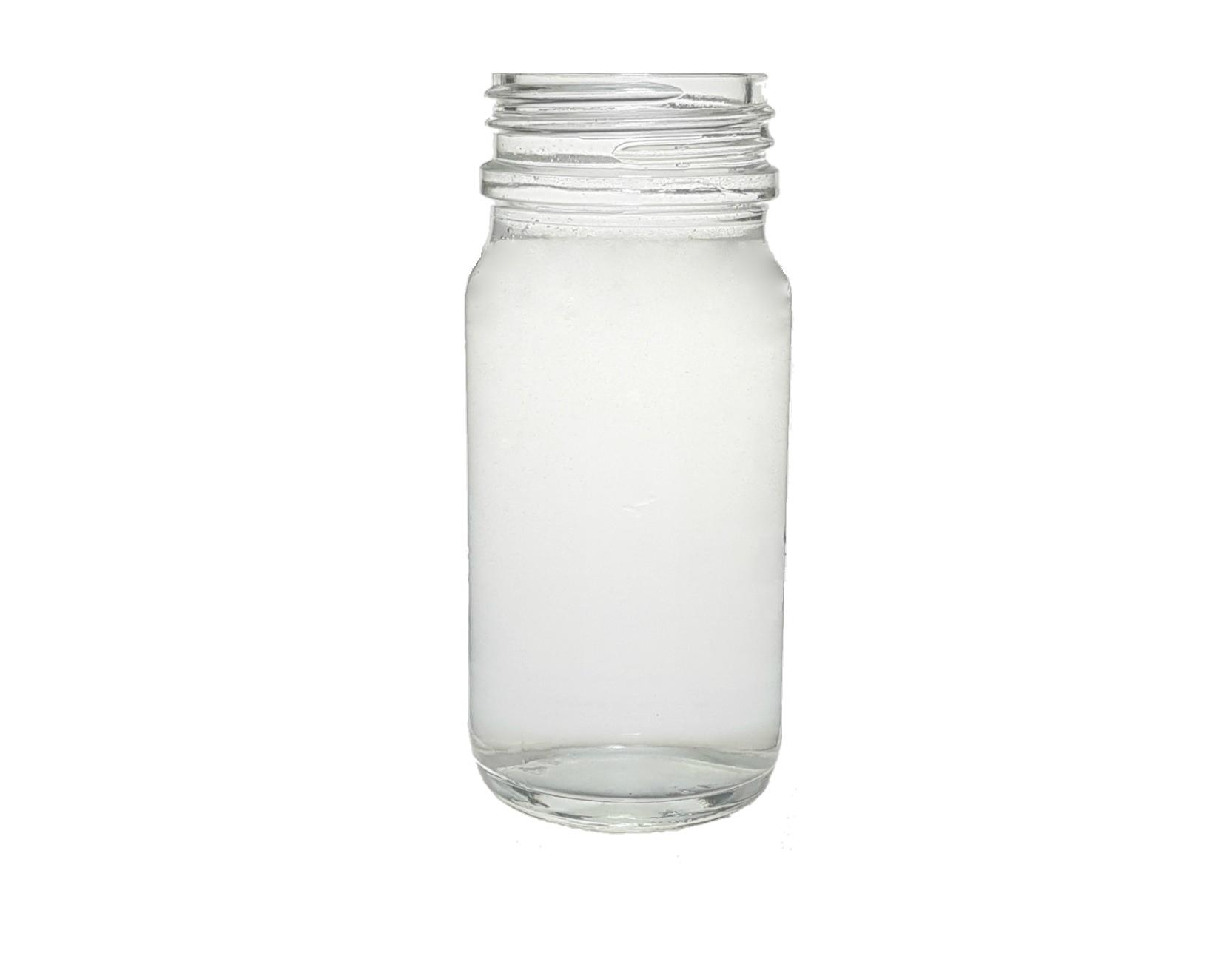 WIDE MOUTH CLEAR GLASS 120 ML KOLA BOTTLE PH 30