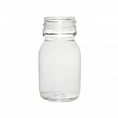 CLEAR GLASS 30 ML SYRUP BOTTLE PP 28