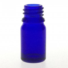DROPPER ROUND BOTTLE BLUE GLASS 5 ML