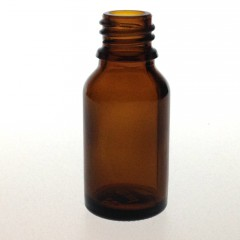 DROPPER BOTTLE AMBER GLASS 15 ML STO
