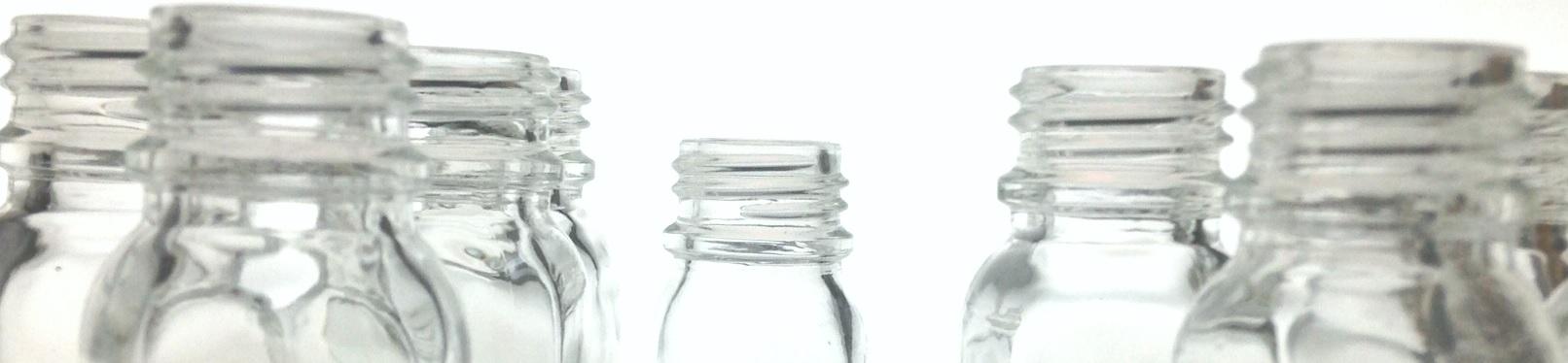 Flacons verre blanc bague PH