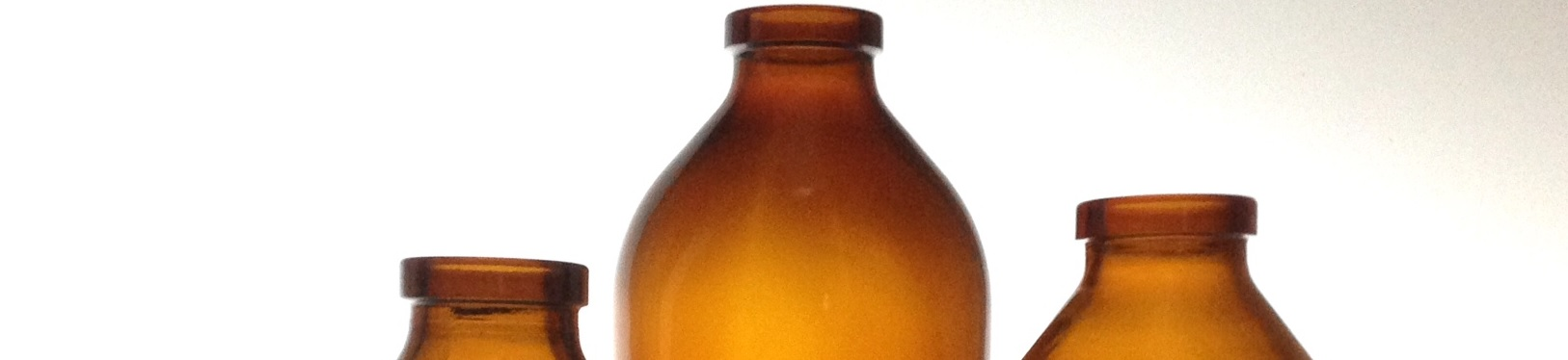 Amber glass infusion bottles